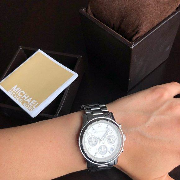 Designer Michael Kors silver women's wrist watch